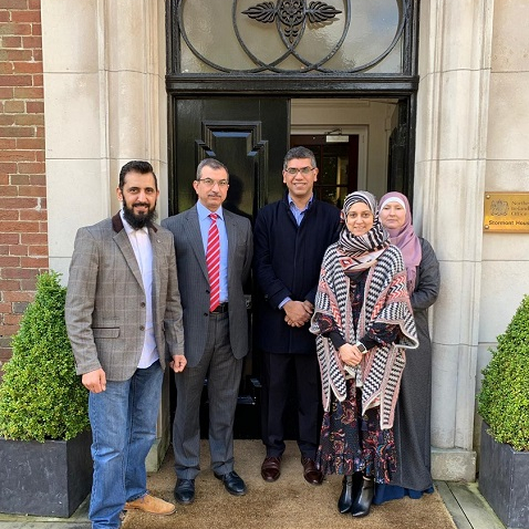 Muslim Community Members met with officials at Stormont Castle